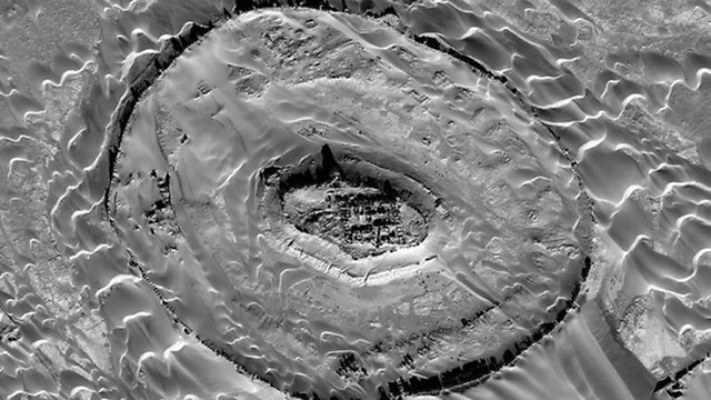 שרידים בטאר או-סאר, מתקופת האימפריה הפרתית (צילום: DigitalGlobe) (צילום: דיגיטלגלוב)