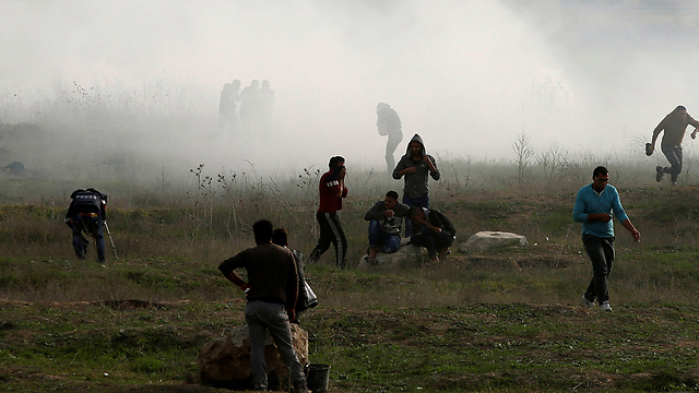 An amputee Palestinian protester was killed during clashes with the IDF near the border fence   (Photo: Reuters)