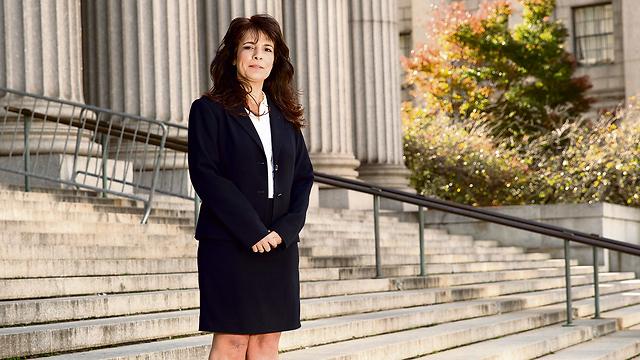 Attorney Nitsana Darshan-Leitner at the New York court, last month (Photo: Nadav Neuhas)