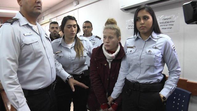 Tamimi at the Ofer Military Court on Monday (Photo: Gil Yohanan)