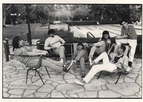 להקת תיסלם בשנות ה-80 (צילום: מיכל היימן)