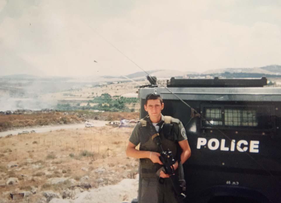 Михаэль во время службы в армии
