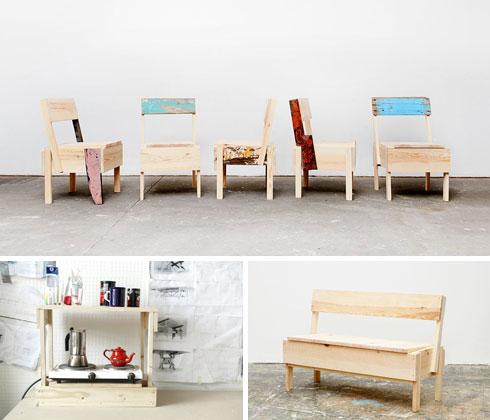 ספסל של CUCULA מעצים שמקורם בסירות ישנות. המעצב האיטלקי אנזו מארי העניק לחברת CUCULA את הזכויות לעצב מחדש ולמכור רהיטים פרי עיצובו כדי לגייס תרומות לתוכנית התמיכה שלהם בפליטים (צילום: Verena Brüning, Fred Moseley)