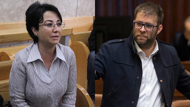 Zoabi and Hazan. 'Will kick you out of here' (Photo: Zohar Shahar, Amit Shabi)