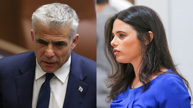 Yair Lapid and Ayelet Shaked (Photo: Noam Moskovich)
