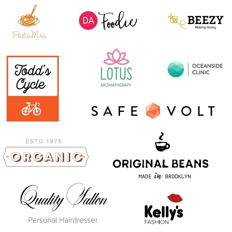 Эскизы представленных логотипов. Фото: Tailor Brands