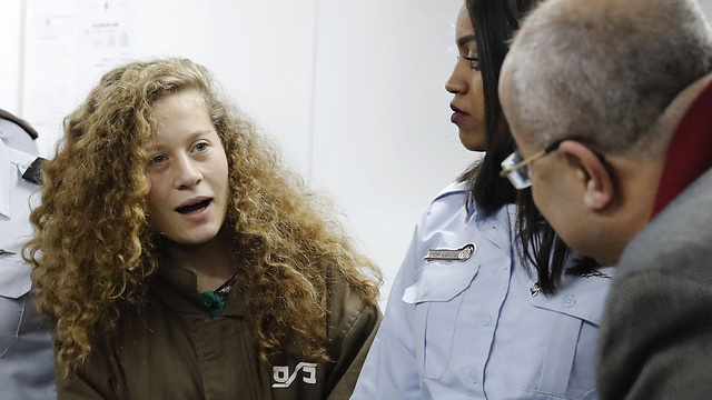 Ahed Tamimi in court (Photo: AFP)
