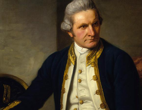 ציור שמן של קפטן ג'יימס קוק  (צילום: מתוך ויקיפדיה)