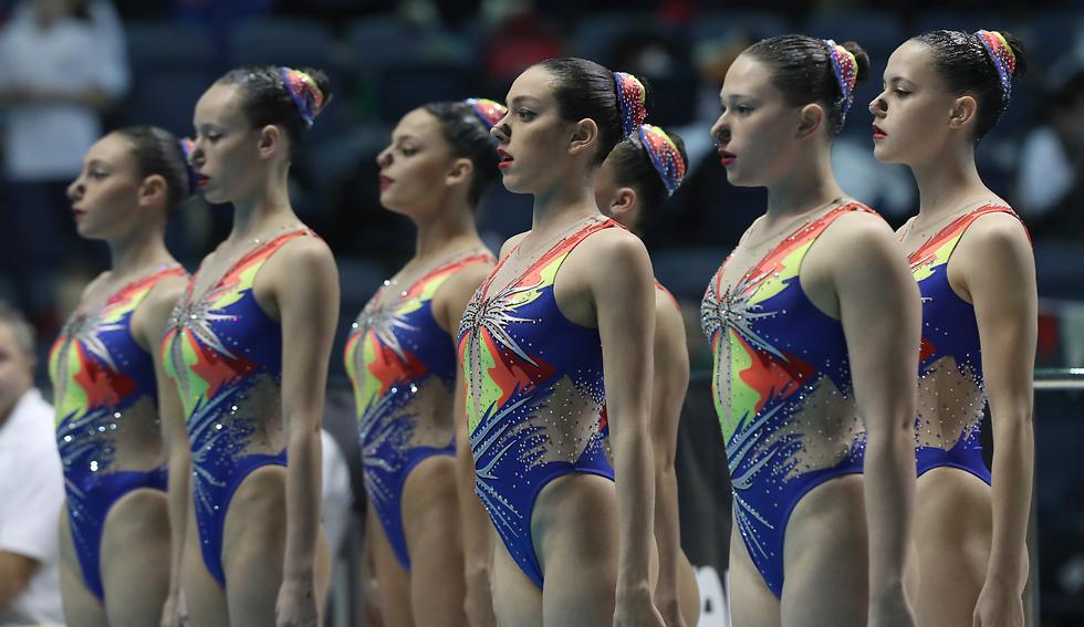 נבחרת ישראל בשחייה אמנותית (צילום: אורן אהרוני) (צילום: אורן אהרוני)