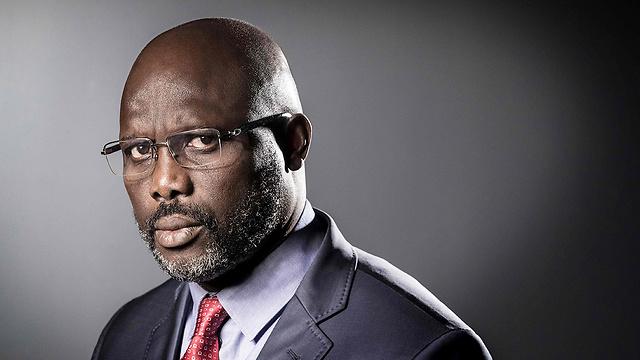הבטיח שינוי. כוכב הכדורגל לשעבר ג'ורג' וואה שנבחר לנשיא ליבריה (צילום: AFP) (צילום: AFP)