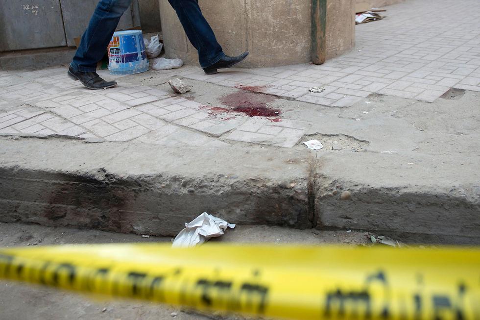 The scene of the attack (Photo: EPA)