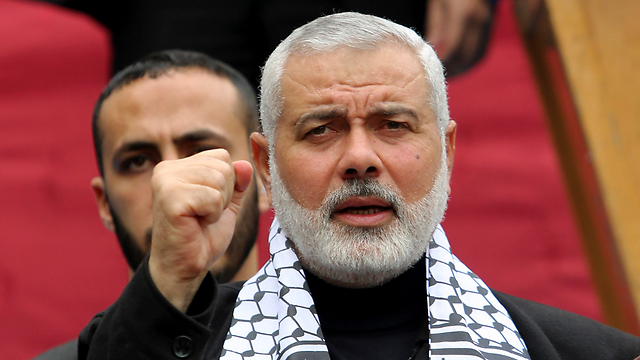 Hamas political leader Ismail Haniyeh (Photo: AP)
