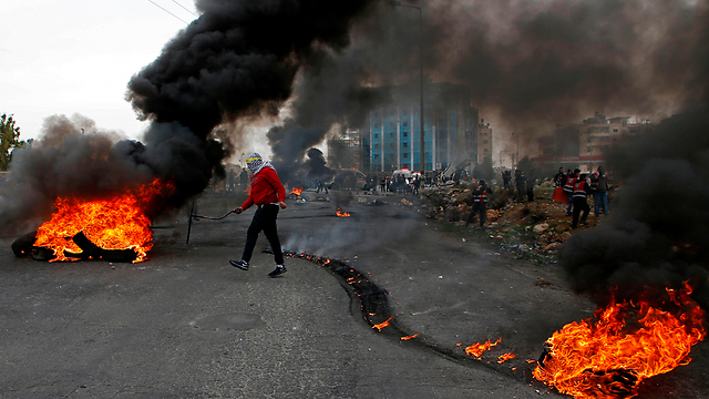 Rioting in Ramallah (Photo: AFP)