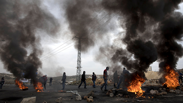 Clashes in Ramallah (Photo: EPA)