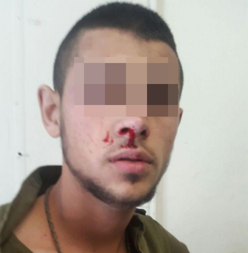 The Arab soldier who claimed he was beaten