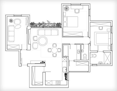 תוכנית הדירה (תוכנית: Designstudio.be)