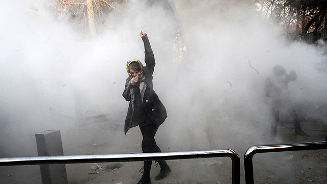Protests in Tehran on Saturday (Photo: EPA)