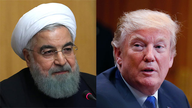 Iran and President Hassan Rouhani (L) said they would retaliate against any new sanctions by President Trump (Photo: AFP, Getty Images)
