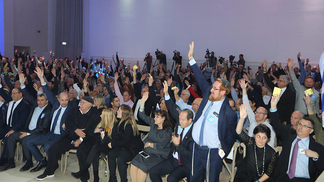 Likud Central Committee votes in favor of annexation  (Photo: Motti Kimchi)