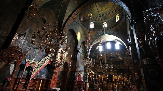 הכנסיה שבלב המנזר (צילום: רון פלד) (צילום: רון פלד)
