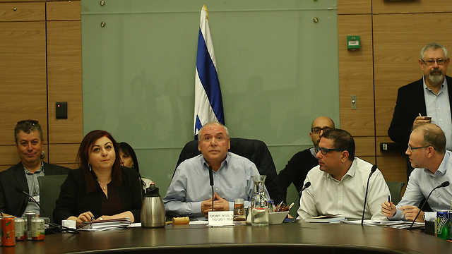 Knesset's Internal Affairs and Environment Committee votes on supermarket bill (Photo: Ohad Zwigenberg)