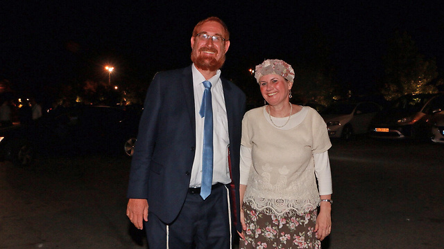 Yehuda (L) and Yaffa Glick last year (Photo: Dana Kopel)