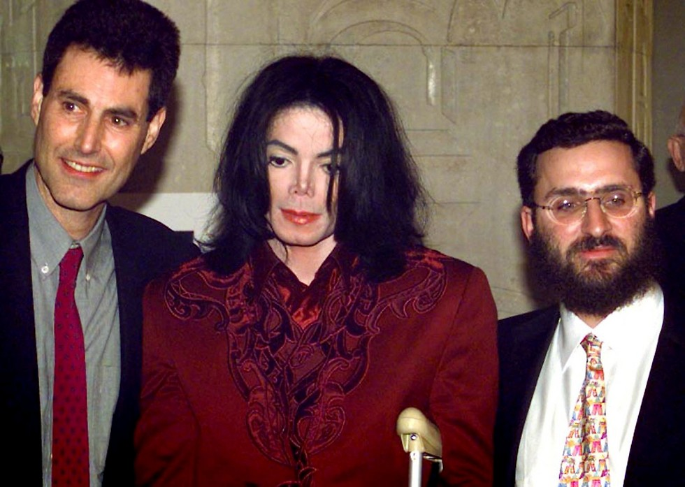Rabbi Boteach with Michael Jackson and Uri Geller  (Photo: Reuters)