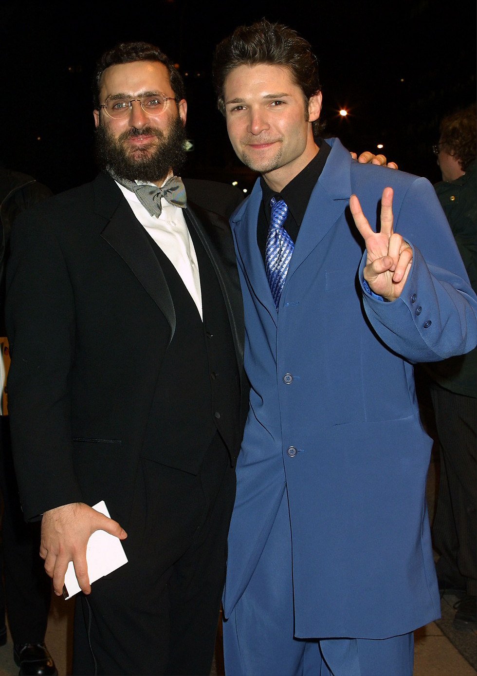 Boteach with actor Corey Feldman  (Photo: Getty Images)