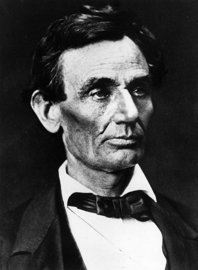 """לינקולן כפי שצולם ב-1860, לפני שקיבל את המכתב מגרייס בדל. """"מעולם לא היה לי זקן"""" (צילום: Gettyimages)"""
