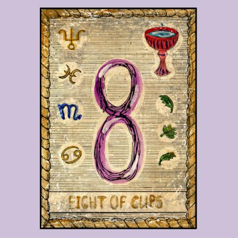 קלף שמונה גביעים (צילום: shutterstock)