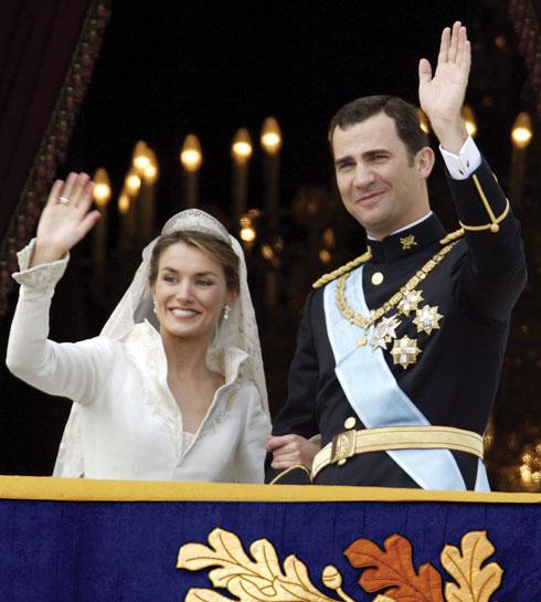 הנסיך פיליפה, נסיך ספרד, ולטיסיה אורטיס רוקסולנו (צילום: Gettyimages)