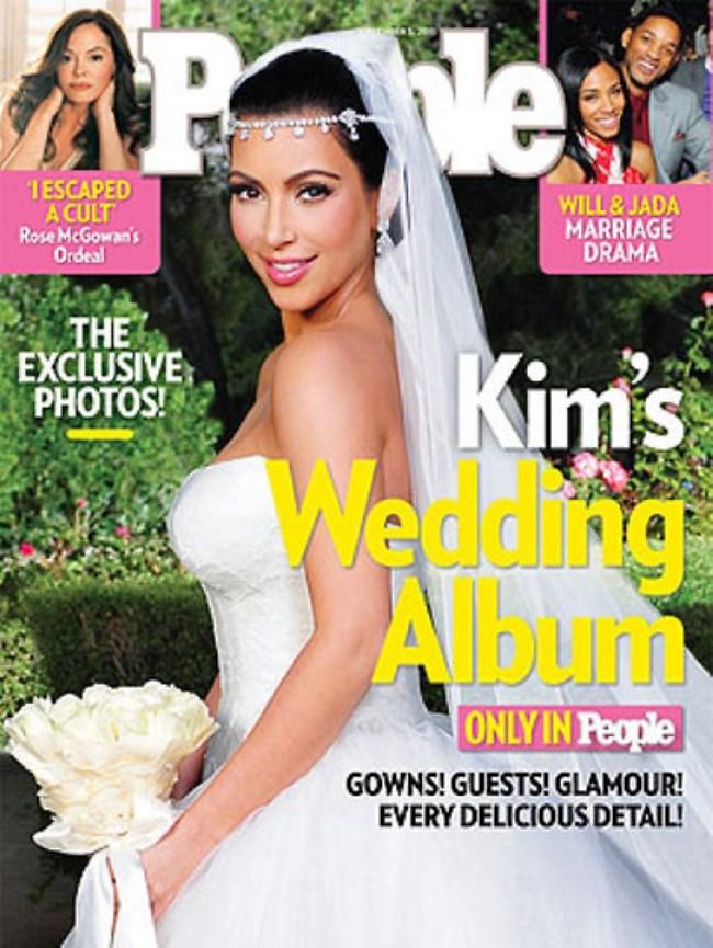 """2.5 מיליון דולר עבור תמונות מהחתונה. קים קרדשיאן (צילום: מגזין """"פיפל"""")"""