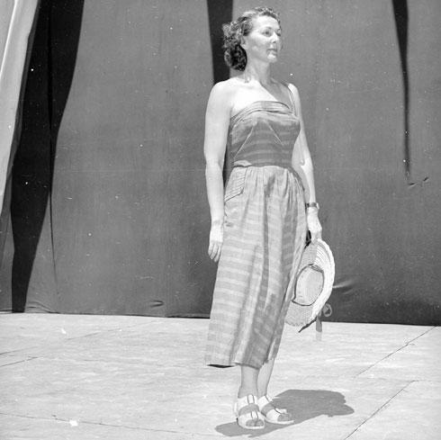 טקס הכתרת מלכת היופי, שנות ה-50, גן אברהם (צילום: דוד רובינגר)