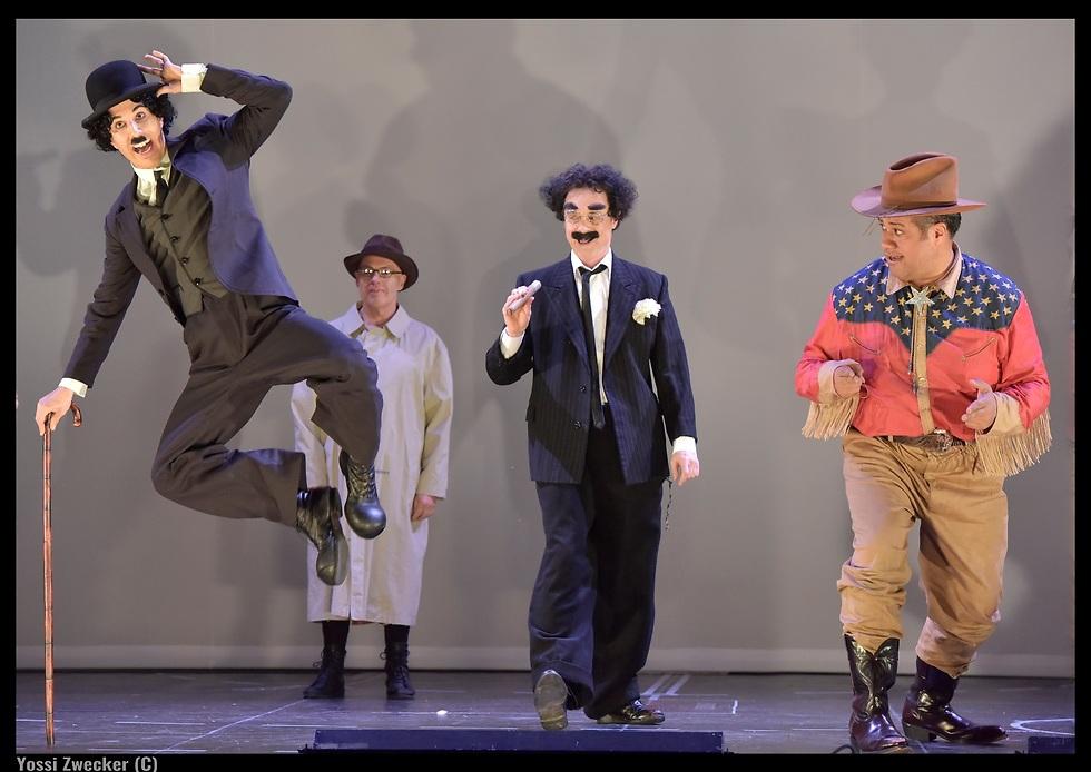 להקת השחקנים מהכפר כדמויות הוליווד (צילום: יוסי צבקר) (צילום: יוסי צבקר)