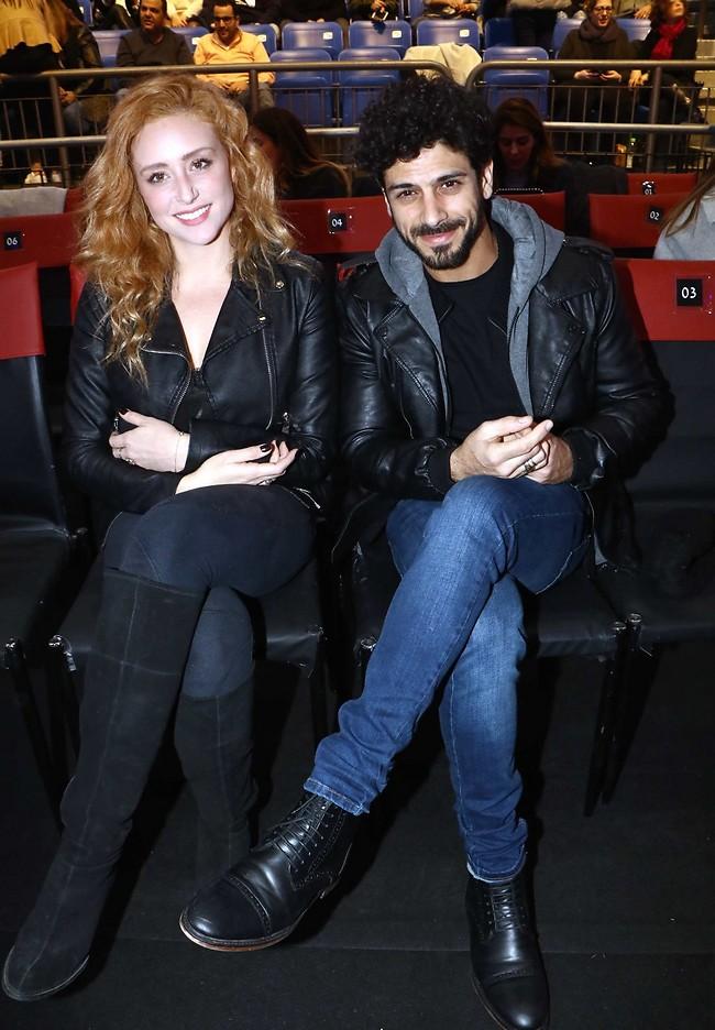 להיות איתה, אבל הפעם עם האמיתית. אביב אלוש ואשתו נופר קורן (צילום: אמיר מאירי)