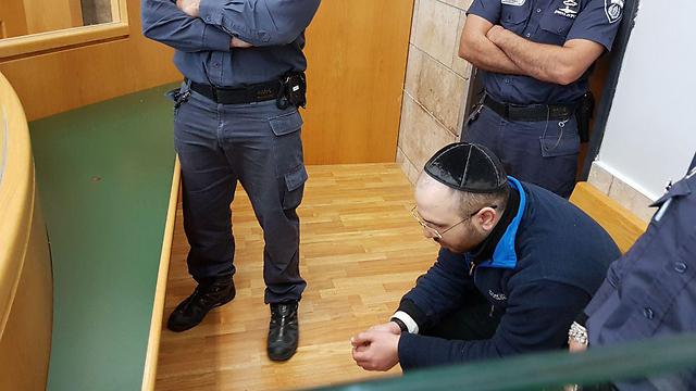 """סלע בבית המשפט (צילום: אחיה ראב""""ד) (צילום: אחיה ראב"""