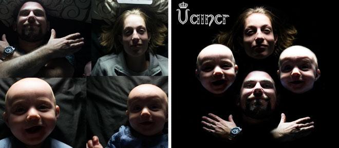 מימין: הצילום הראשון שלי - להקת קווין ביתית. משמאל: מאחורי הקלעים של הצילום (צילום: ויינר גיא ודלית)