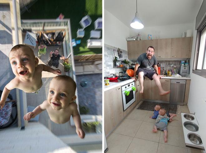 מימין: אמאל'ה, ילדים. משמאל: זריקה לגובה (צילום: ויינר גיא ודלית)