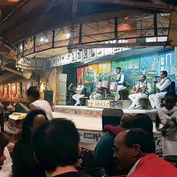 מופע במסעדת יוד אביסינייה | צילום: עופר מתן