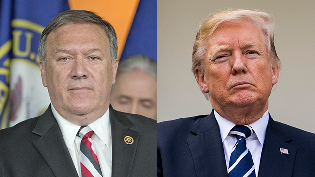New Secretary of State Pompeo (L) was appointed by President Trump to carry out his aggressive line on Iran (Photo: MCT, Reuters)