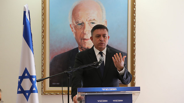 Zionist Union Chairman Gabbay said separating from the Palestinians was paramount, despite Abbas's speech (Photo: Amit Shabi)