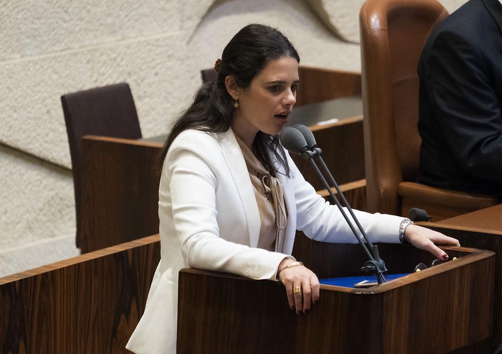 Justice Minister Ayelet Shaked (Photo: Yoav Dudkevitch)