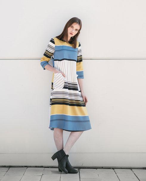 יריד Fashion199. בתמונה: שמלת פסים ב-199 שקל במקום 429 שקל (צילום: FASHION199)