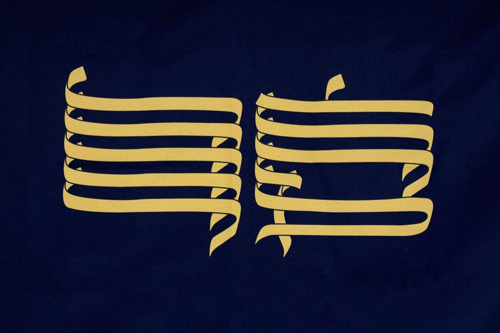 """""""בעיצוב הדגל חיפשתי סמלים החוזרים על עצמם במעגל החיים היהודי, בתשמישי קדושה, בסידורים ובכיסויים לתפילין. בהמשך הגעתי למעיל ספר התורה, וראיתי קשר בינו לבין חשיבות של דגל כמשהו עוטף, חובק ומאחד""""   (צילום: שני דבורה)"""