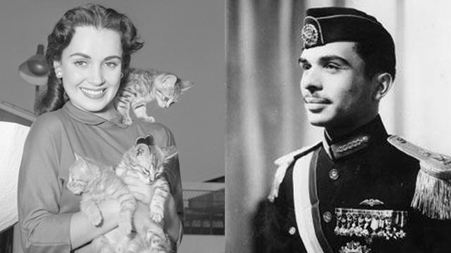 המלך חוסיין בצעירותו והשחקנית קבוט ()