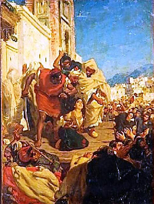 יצירה צרפתית המנציחה את האירוע (ציור של אלפרד דאודנק)