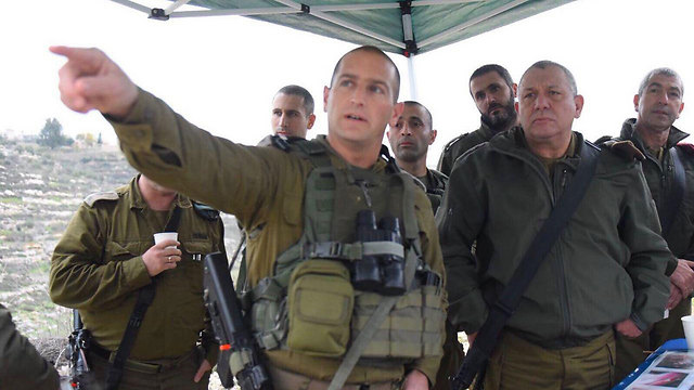 IDF Chief of Staff Eisenkot at the scene of the attack (Photo: IDF Spokesman's Office)