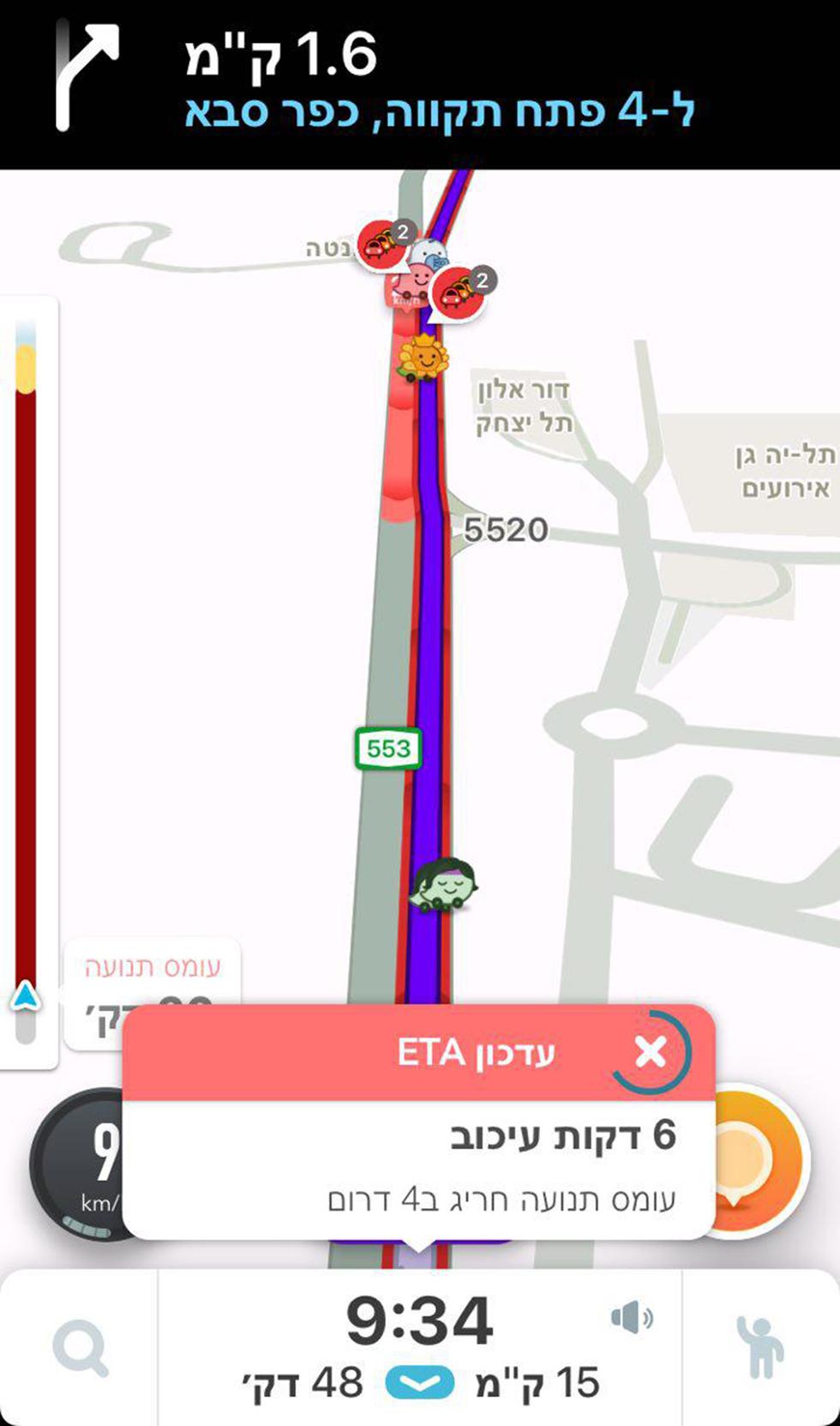 גם בכביש 4 נוצרו עומסי תנועה כבדים ()
