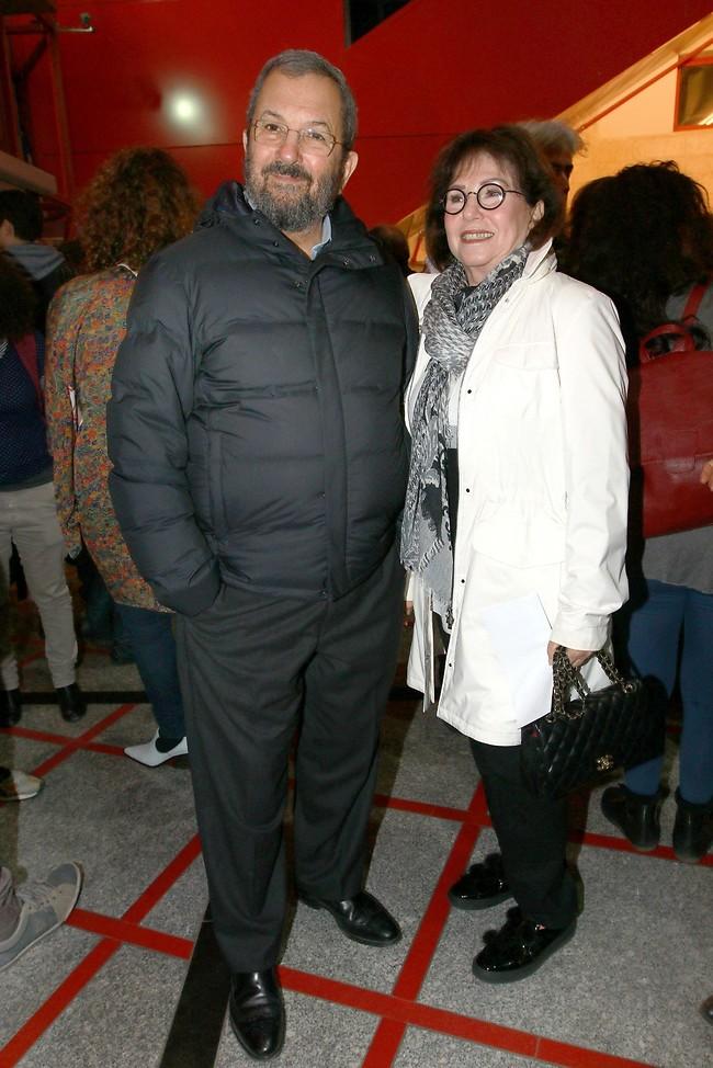 אותך לא ציפינו לראות כאן. אהוד ברק ונילי פריאל (צילום: ענת מוסברג)
