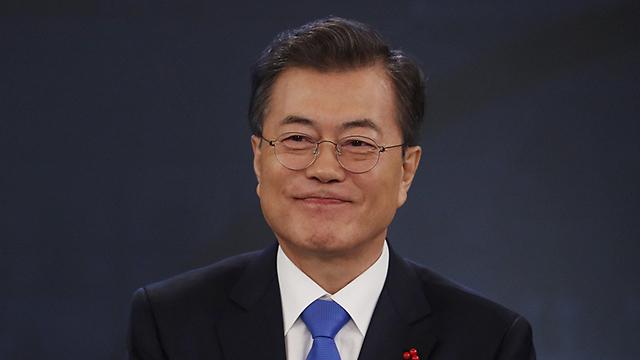 מקווה לשיפור היחסים עם פיונגיאנג. נשיא דרום קוריאה מון-ג'יי אין (צילום: gettyimages) (צילום: gettyimages)